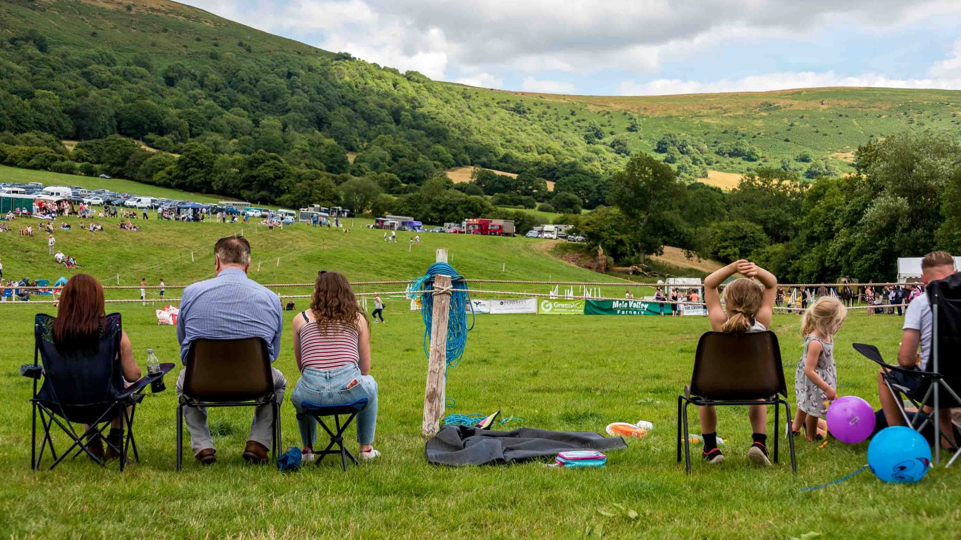 Spectators set up chairs to enjoy the activities at the Llanthony Valley and District Show.