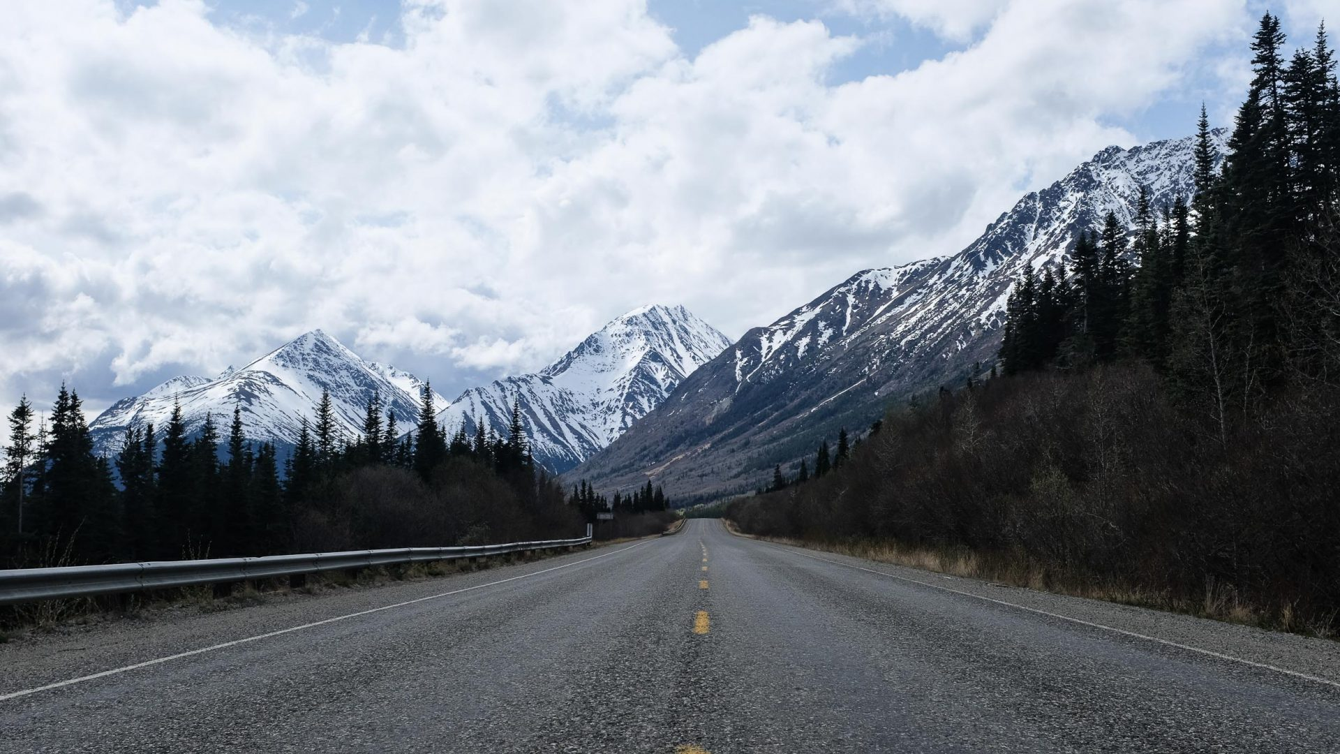 A road in the Yukon, Canada.