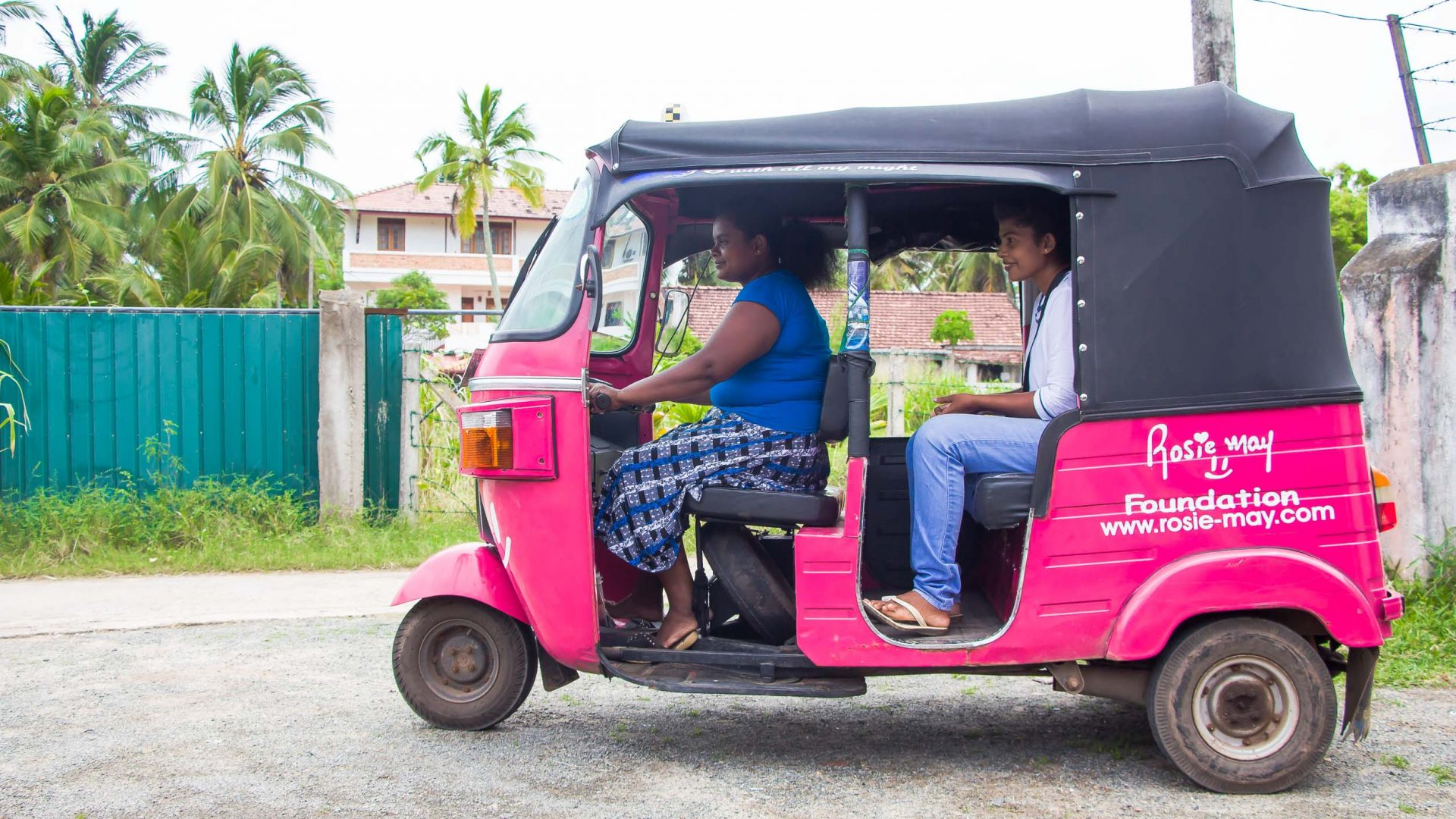 Meet the Sri Lankan women driving pink tuk-tuks in a man's world