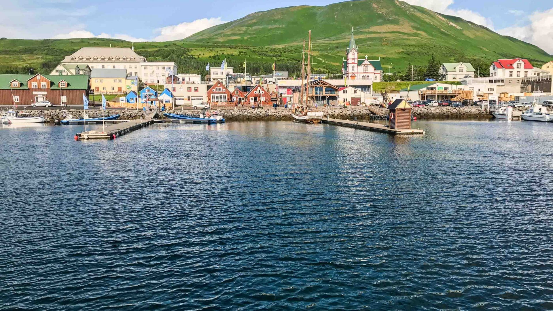 The whale-watching town of Húsavík.