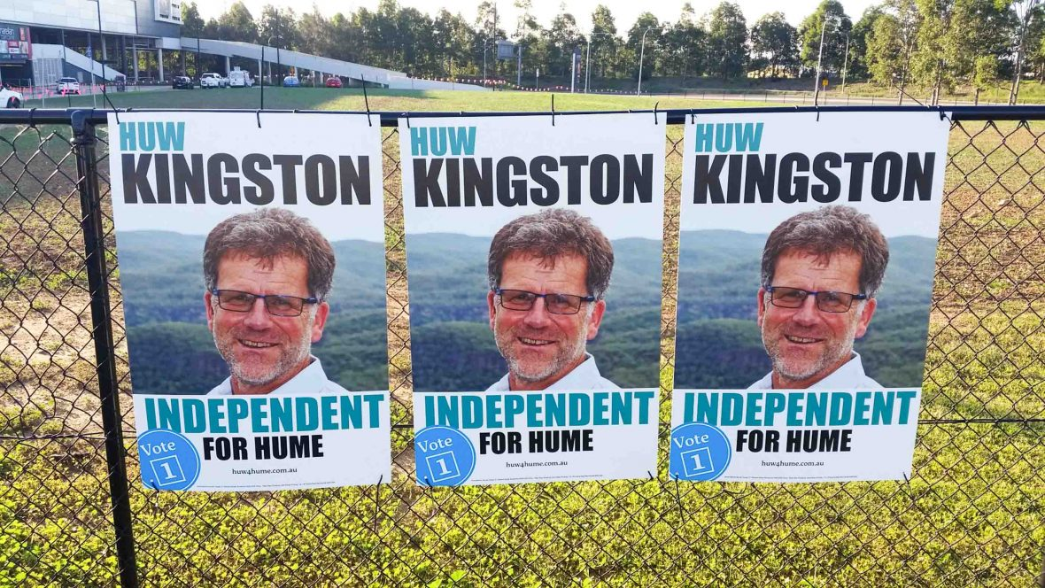 The only cardboard signs in the Australian election.