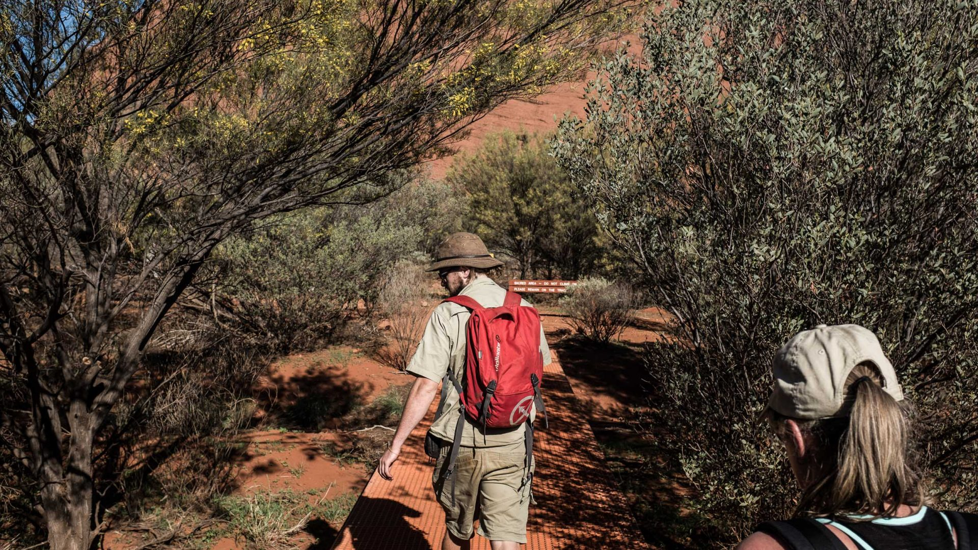 Justing leading a tour at Kata Tjuta.