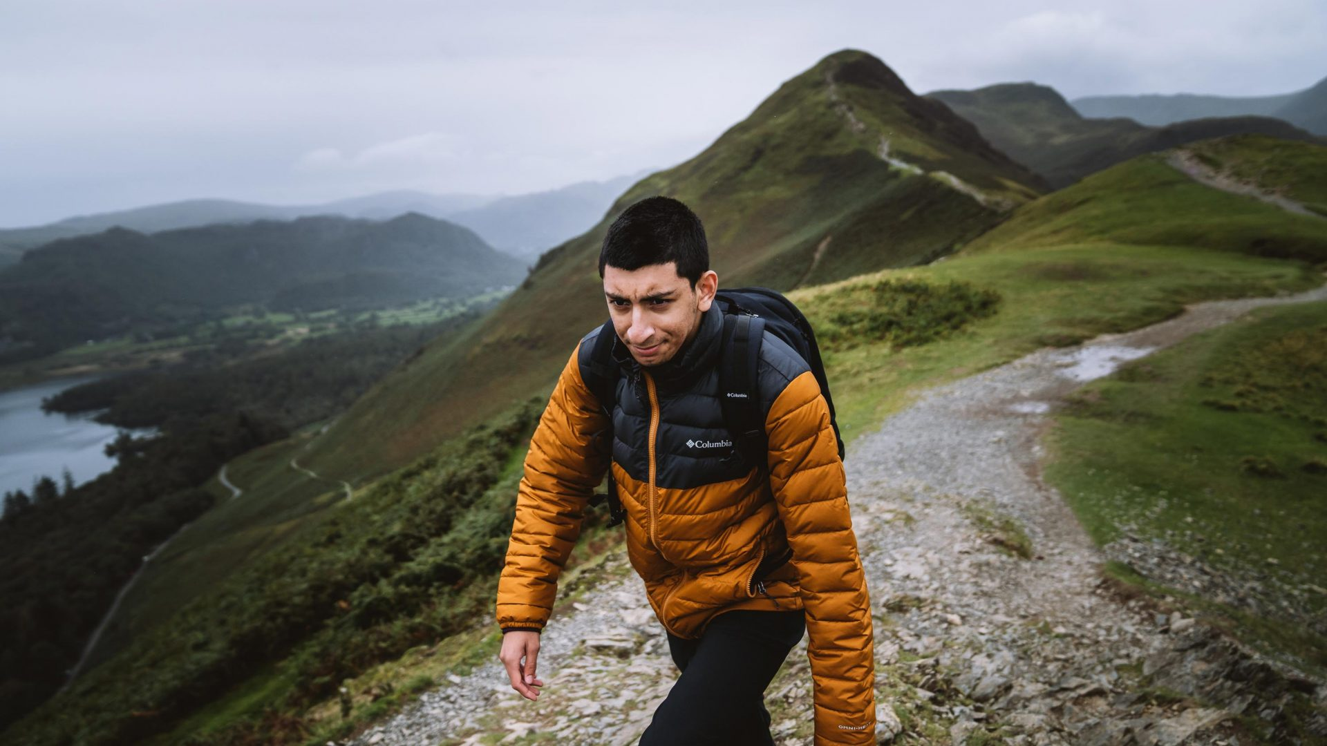 Zaim Ali, one of the members of Boots and Beards on a hike in Glasgow.