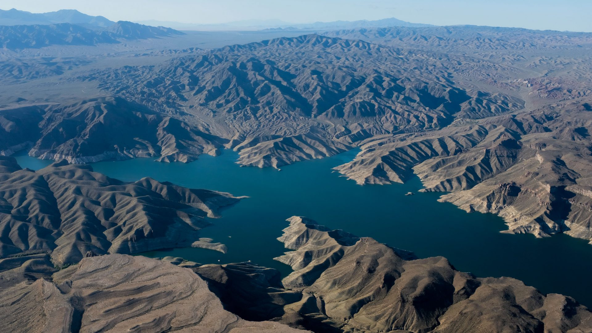 The view over Lake Mead from Papillon Grand Canyon Helicopters, Nevada.