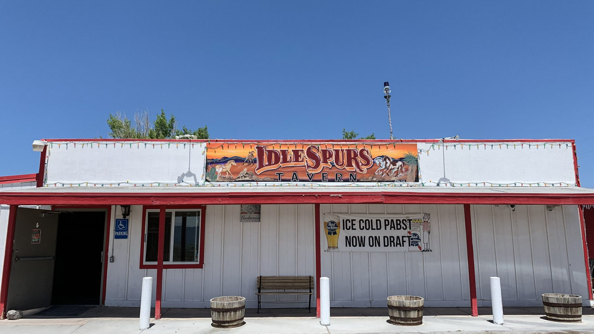 The Idle Spurs Tavern in Sandy Valley, Nevada.