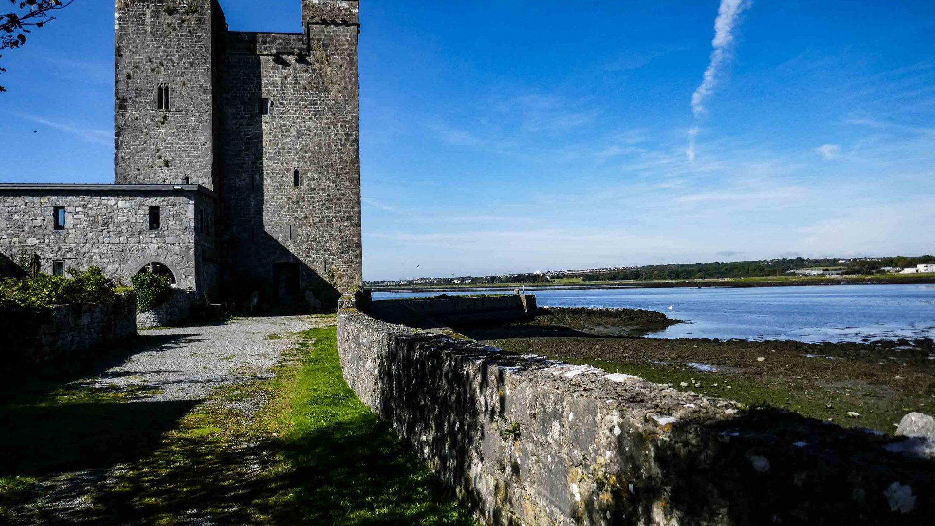 The medieval Oranmore Castle in County Galway, Ireland.