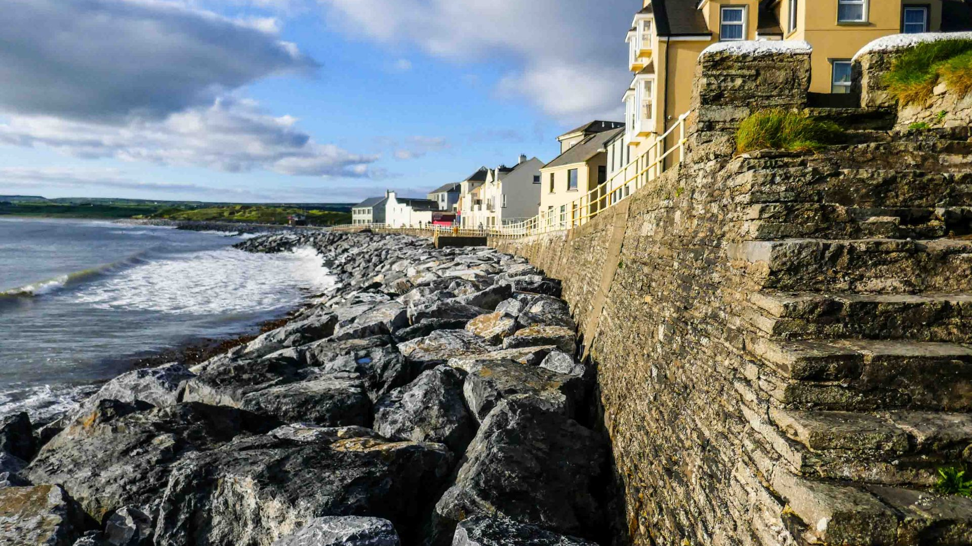 The coast at Lahinch, a small town on Liscannor Bay, on County Clare's northwest coast.