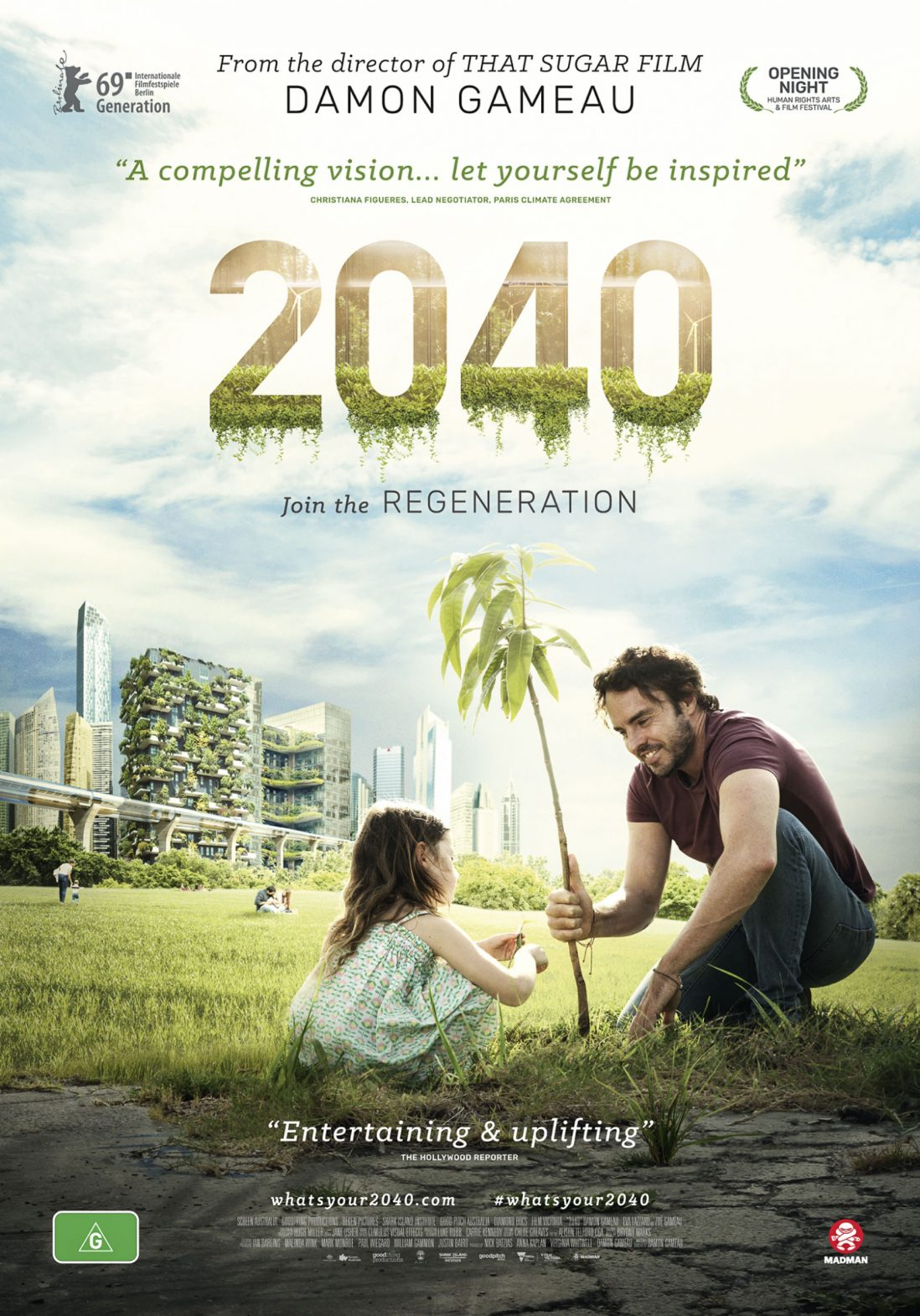 Film poster for '2040' released in April 2019.