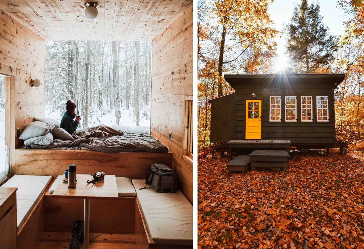 Tiny houses have gained popularity among travelers because of their equally tiny environmental impact.