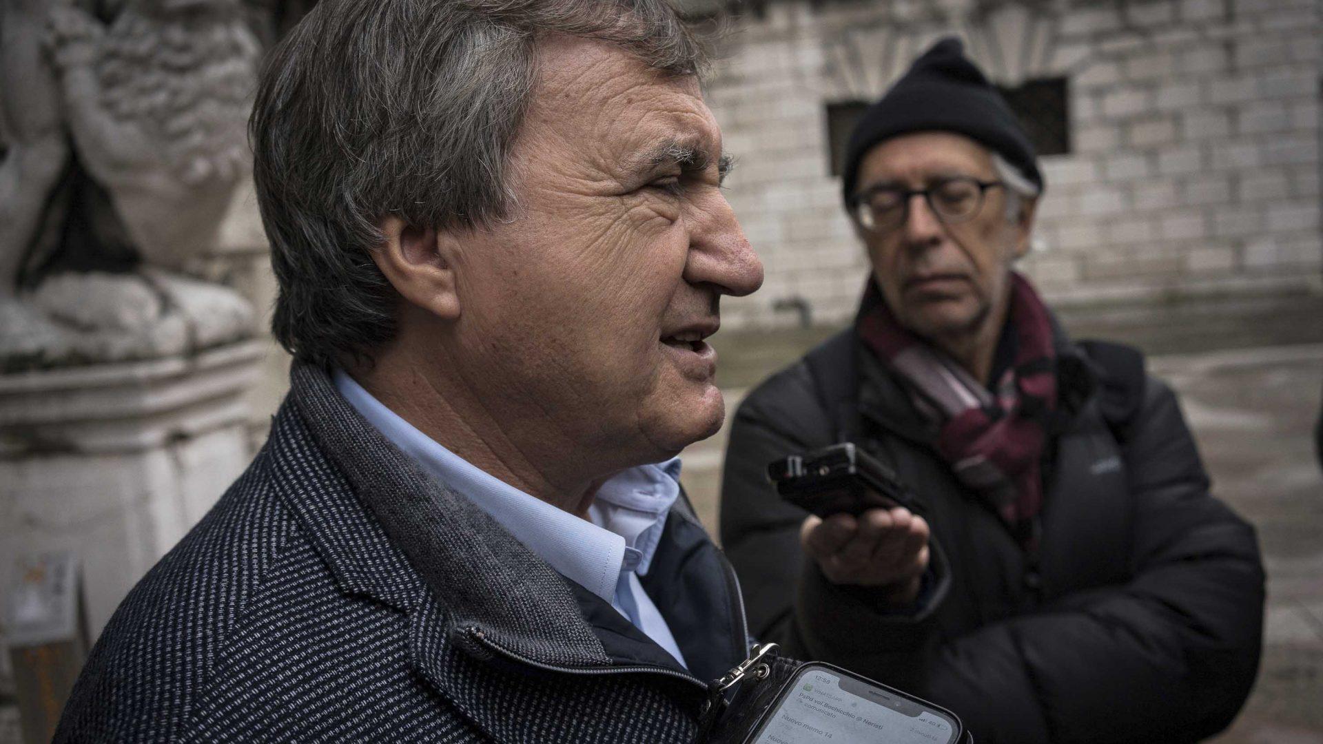 The current mayor of Venice, Luigi Brugnaro.