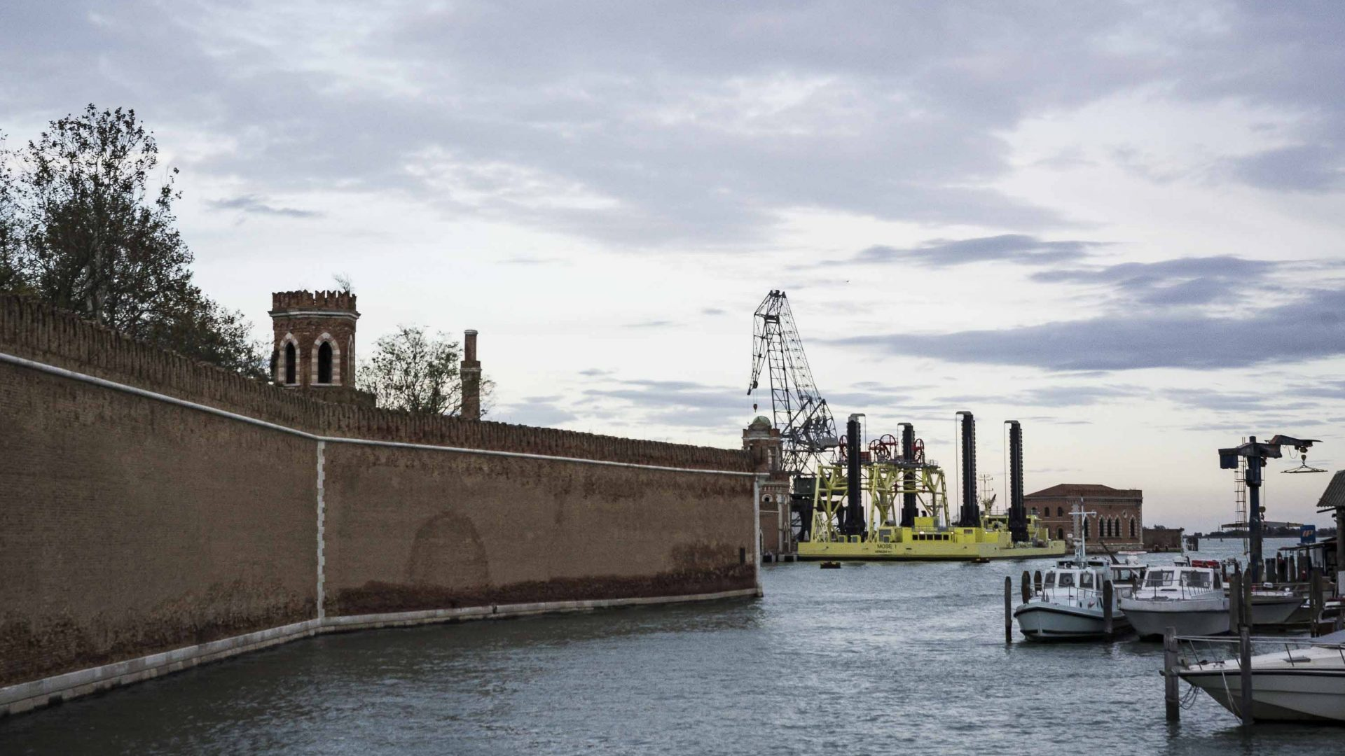 The MOSE, designed to protect Venice from high tides, remains incomplete.