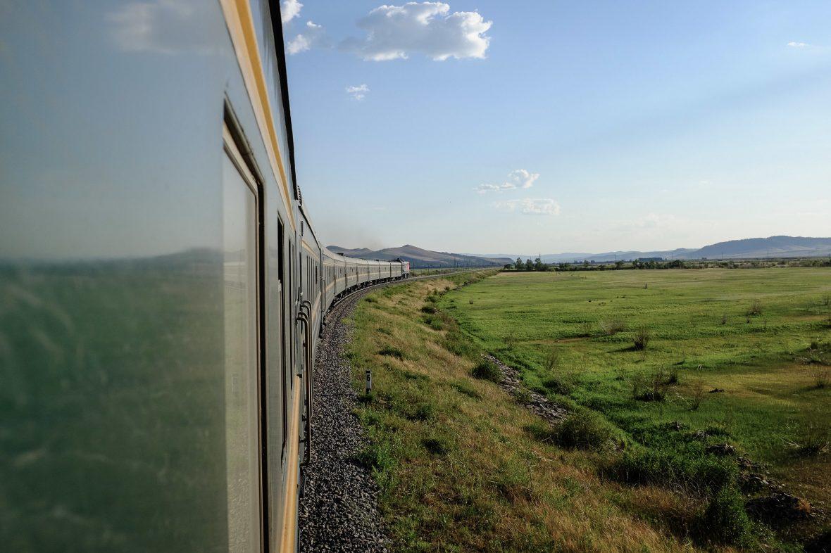 Trans-Mongolian railway.