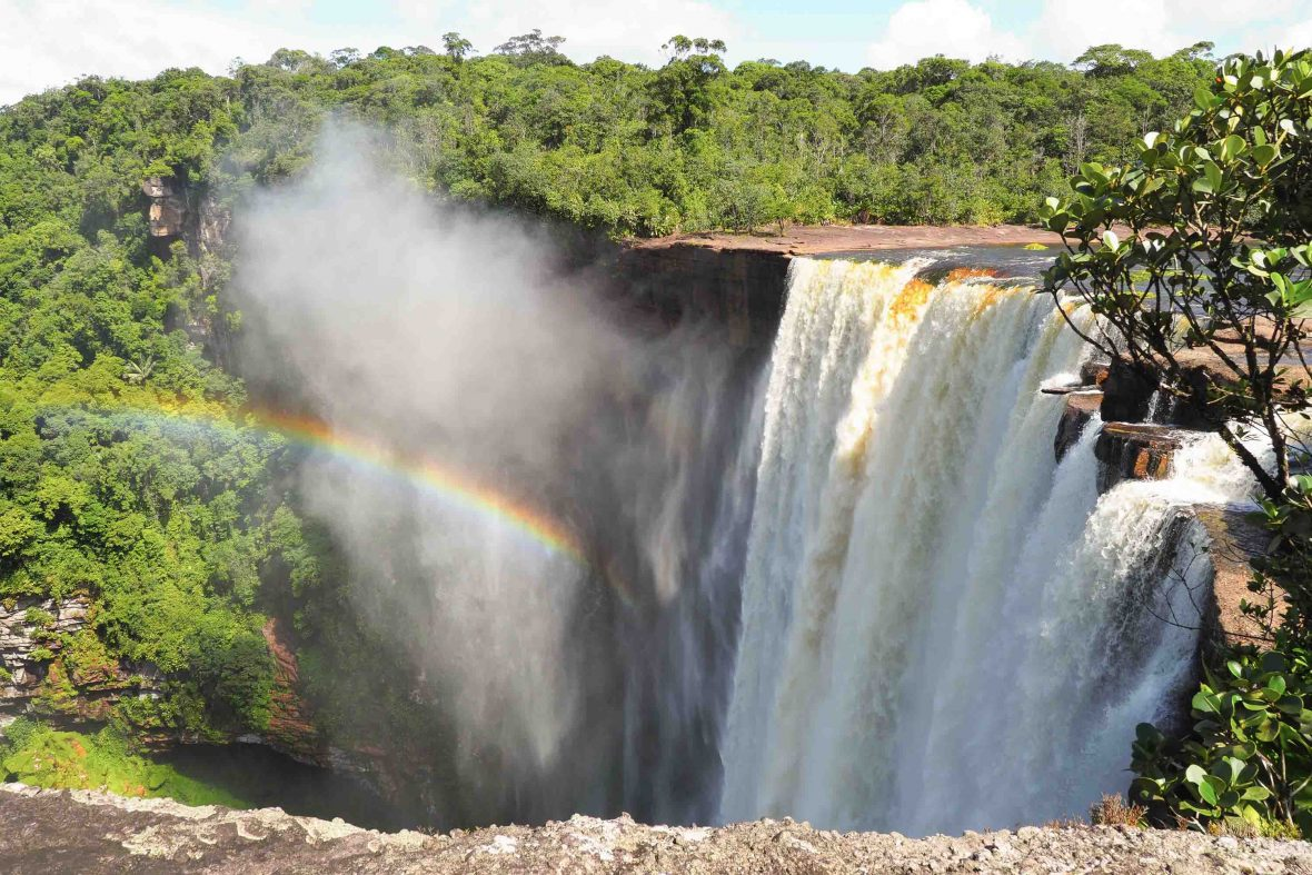 Kaeiteur Falls is one of Guyana's natural wonders. It's the world's highest (and perhaps most spectacular) single-drop waterfall, four times higher than Niagara Falls.