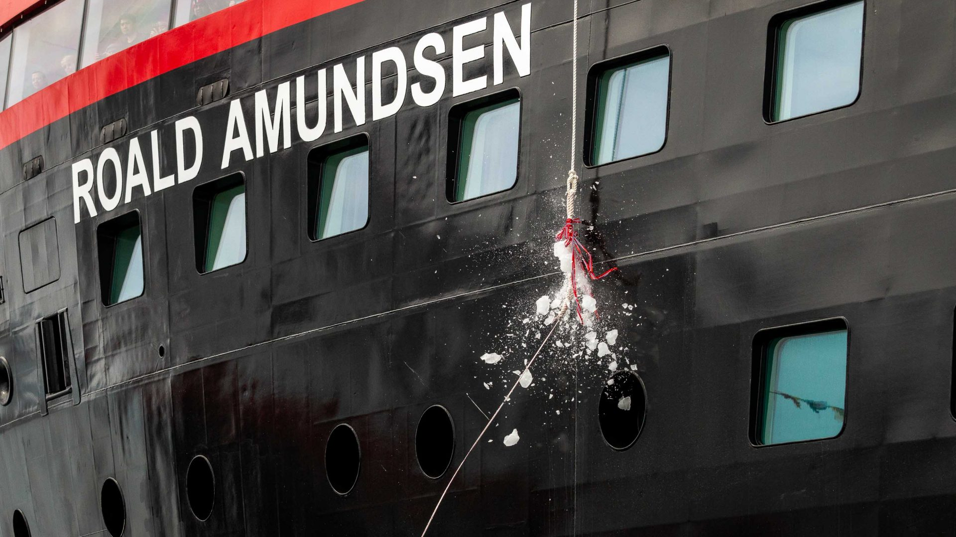 The naming ceremony_for the cruise ship MS Roald Amundsen.