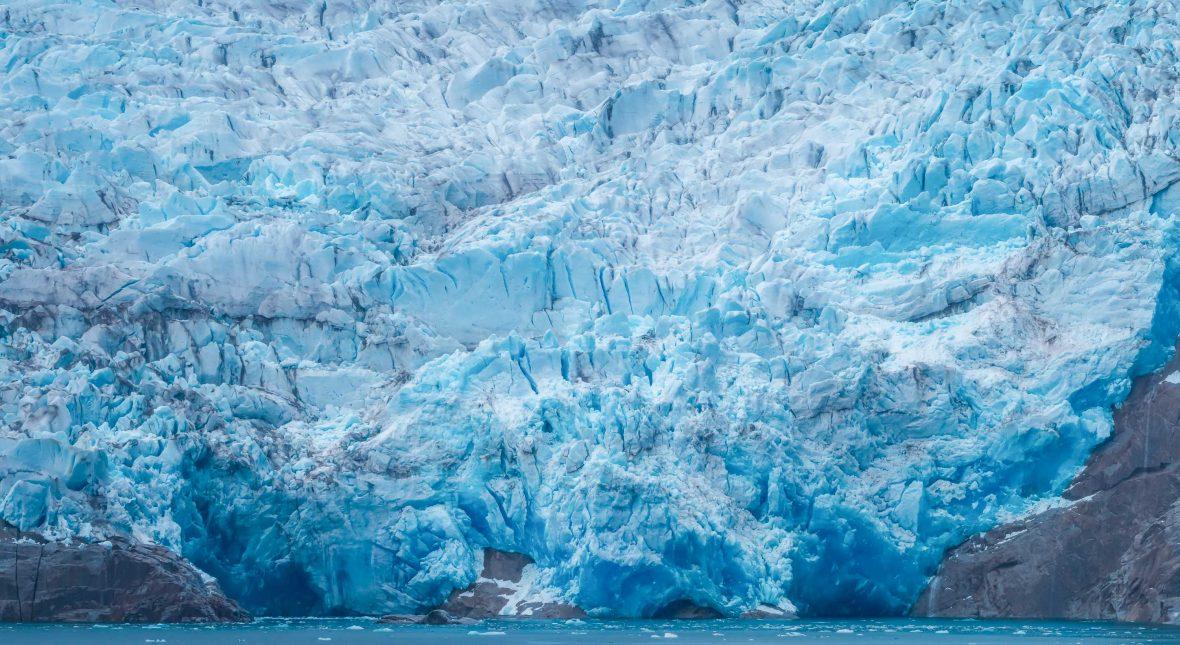 A dramatic glacier in Antarctica.