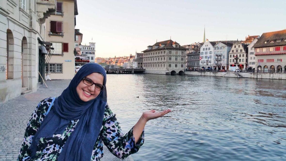 Founder Elena Nikolova of Muslim Travel Girl in Zurich.