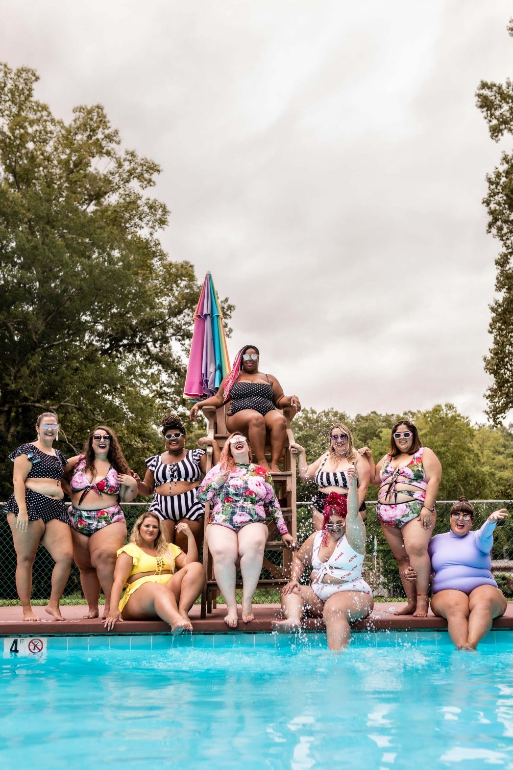 A group of women at Fat Camp 2019, hosted by Annette Richmond of Fat Girls Traveling.