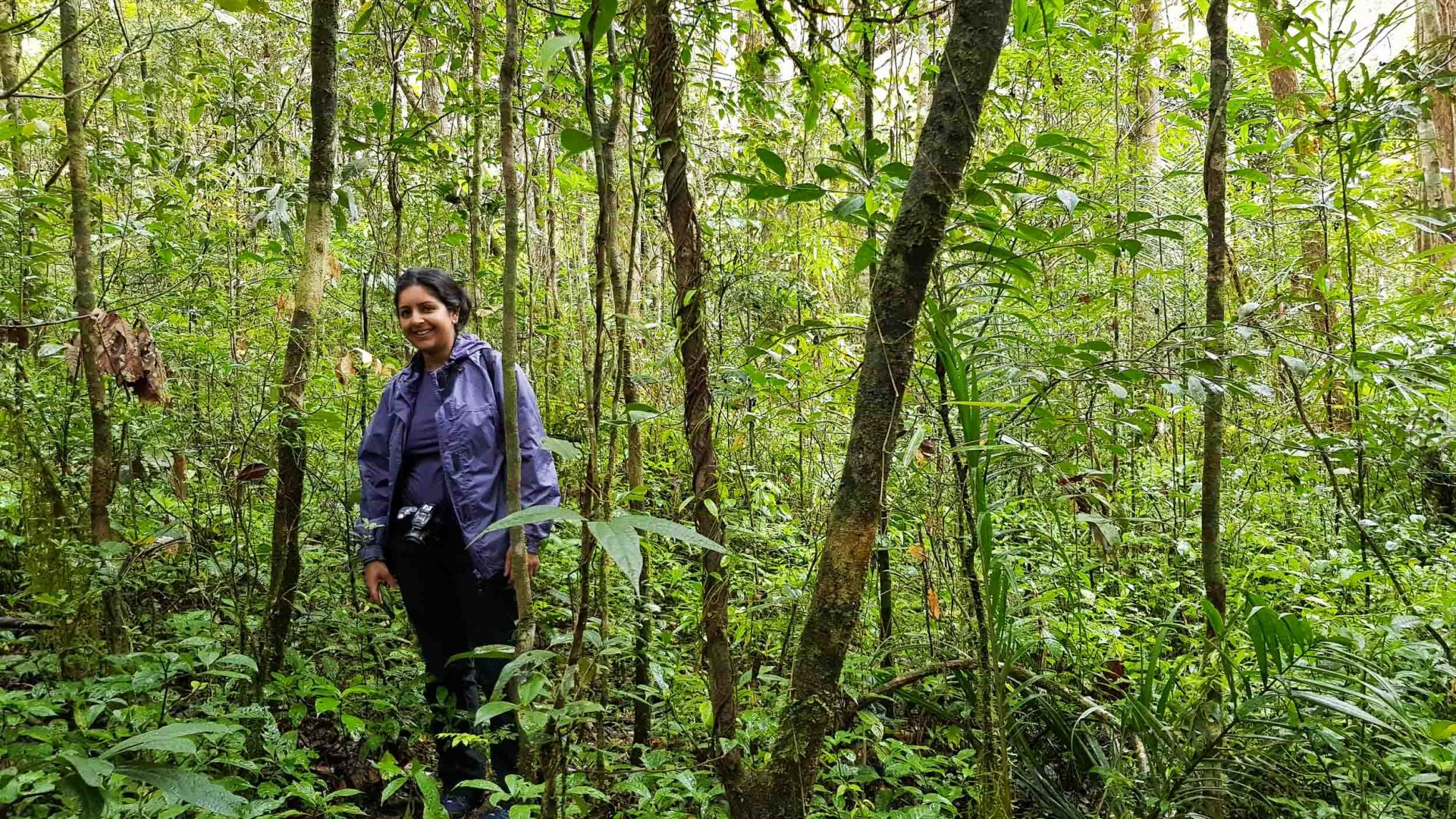 The writer Meera Dattani in Ranomafana National Park.