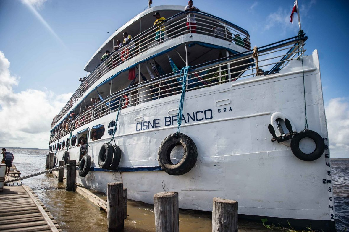 The Cisne Branco Amazon riverboat from Belém to Manaus.