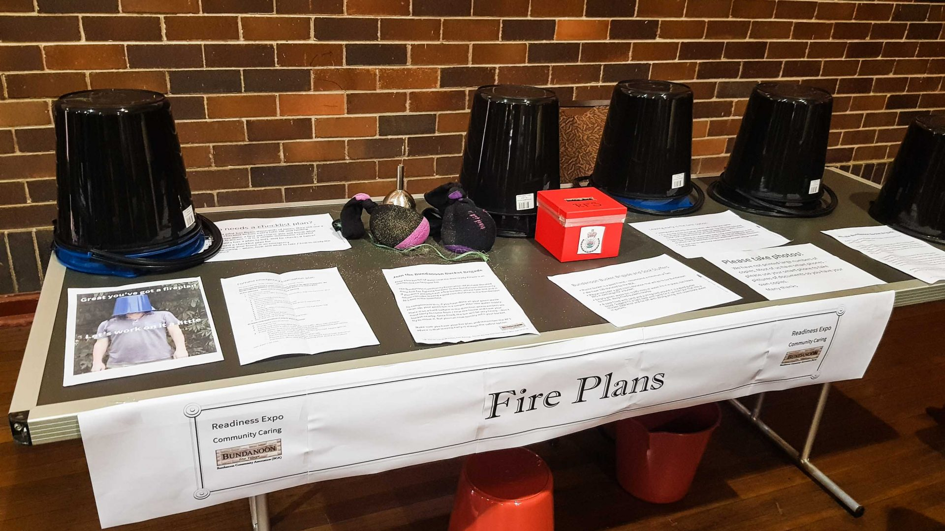A stall at the Bundanoon Readiness Expo, during the fire threat.