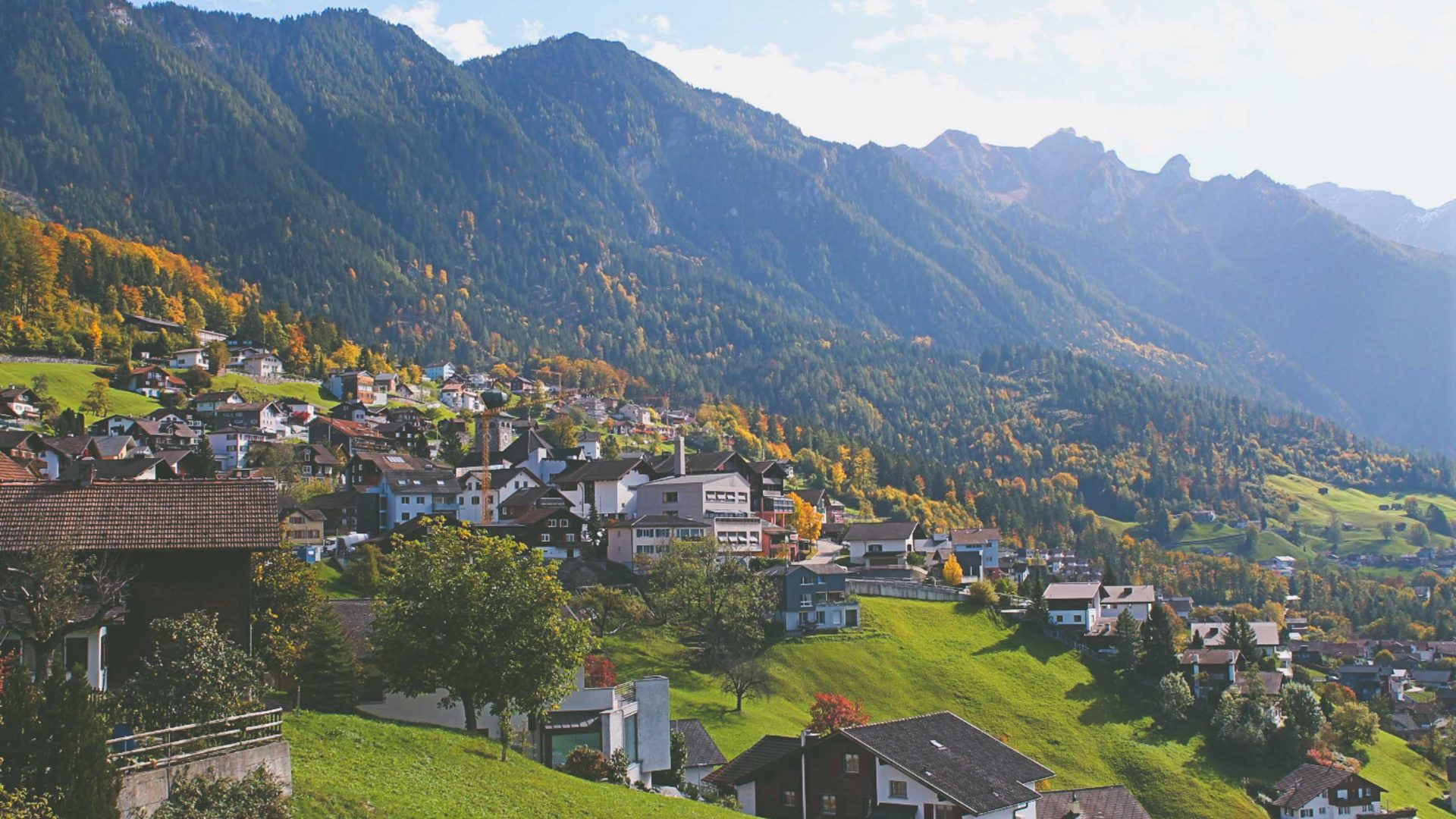 The fall colors on an October afternoon in Liechtenstein.