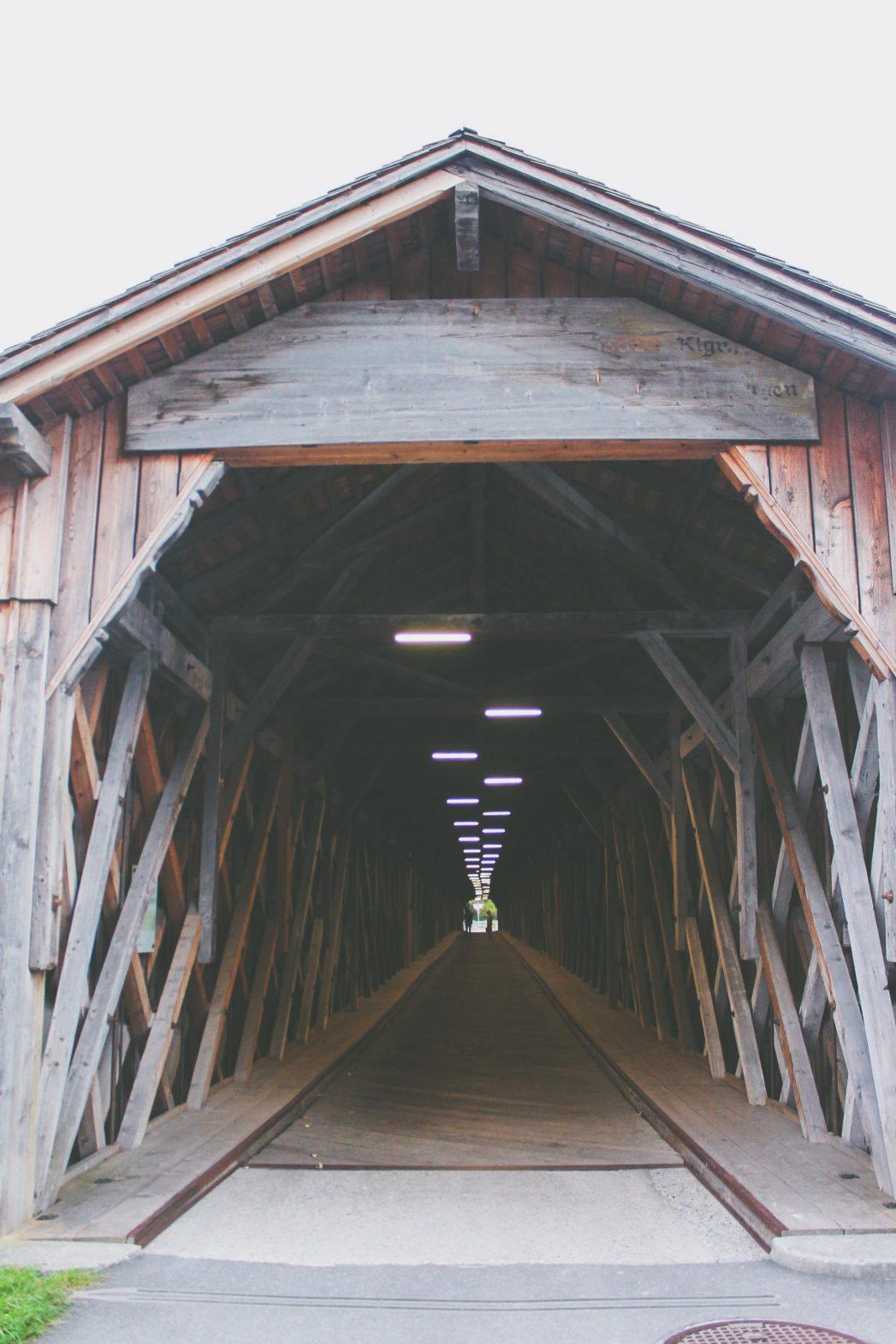 The Vaduz-Sevelen bridge is the only remaining wooden bridge between Liechtenstein and Switzerland.