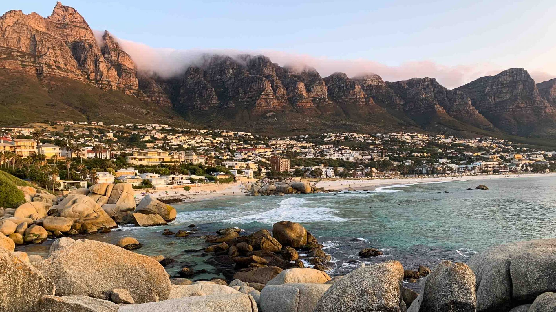 Solo travel: Camps Bay, Cape Town.