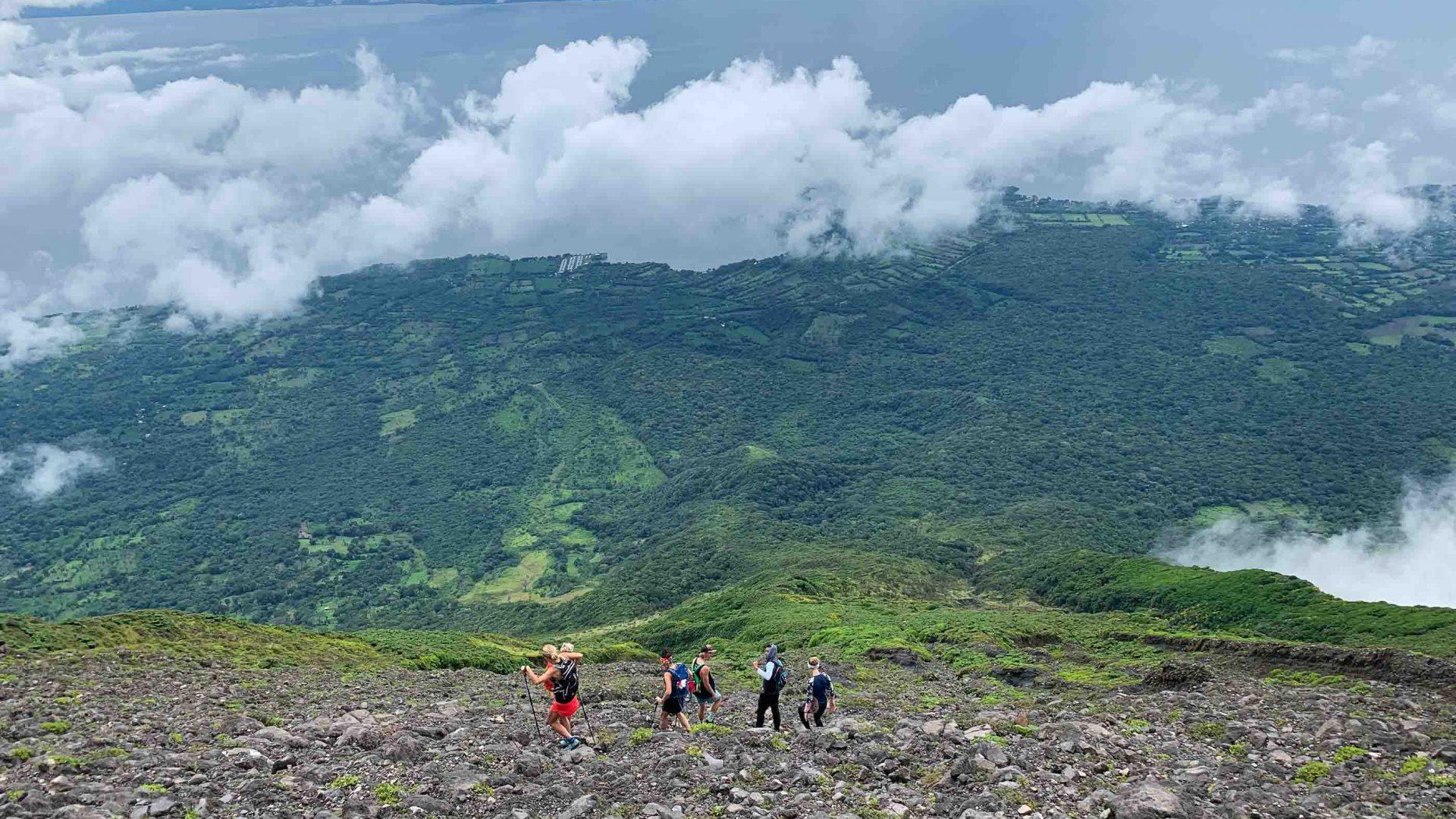 Solo travel: Concepción Volcano in Ometepe, Nicaragua.