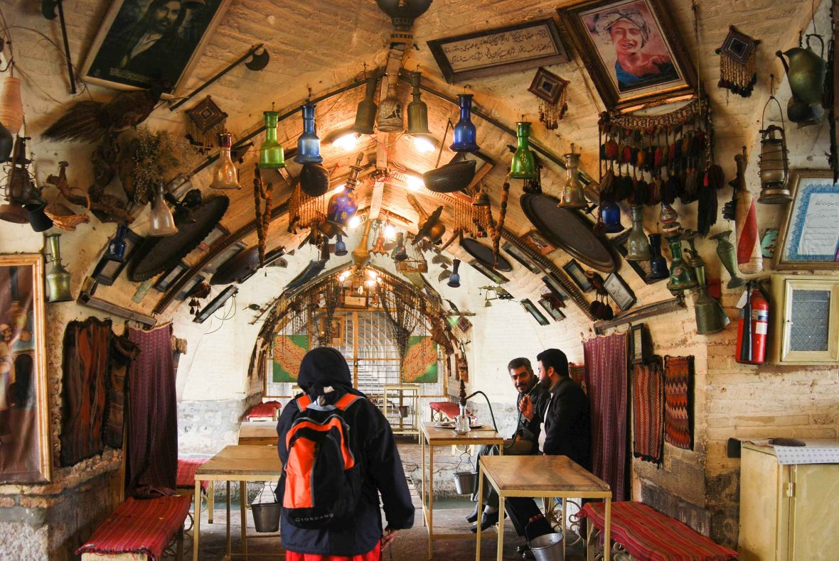 A chaikana (tea house) in Isfahan, Iran.