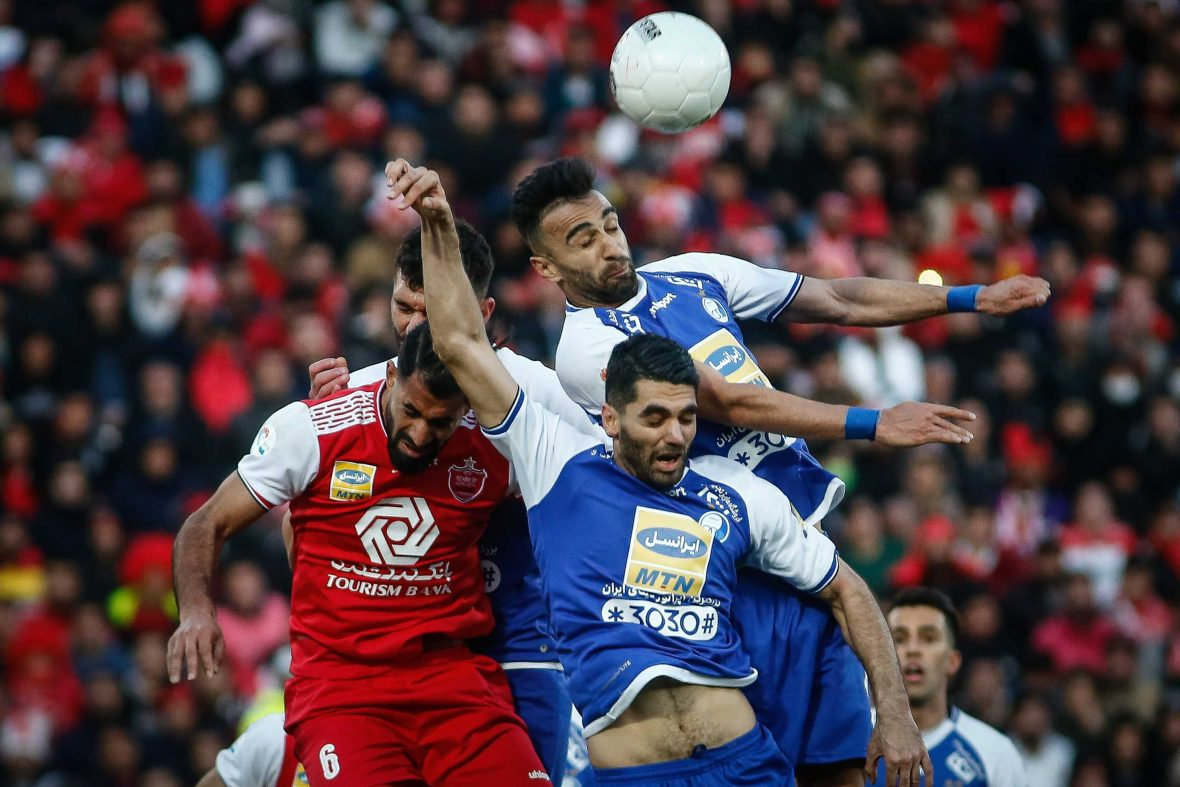 Esteghlal competes against Persepolis at the Tehran Derby.
