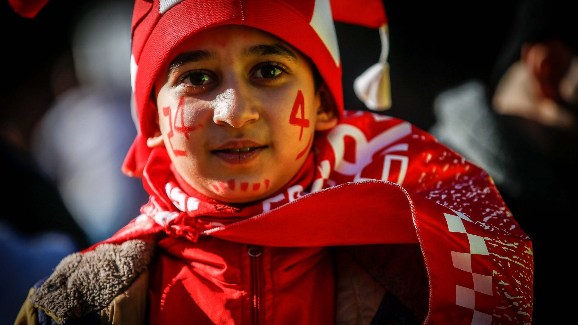 A Persepolis fan at the Tehran Derby.