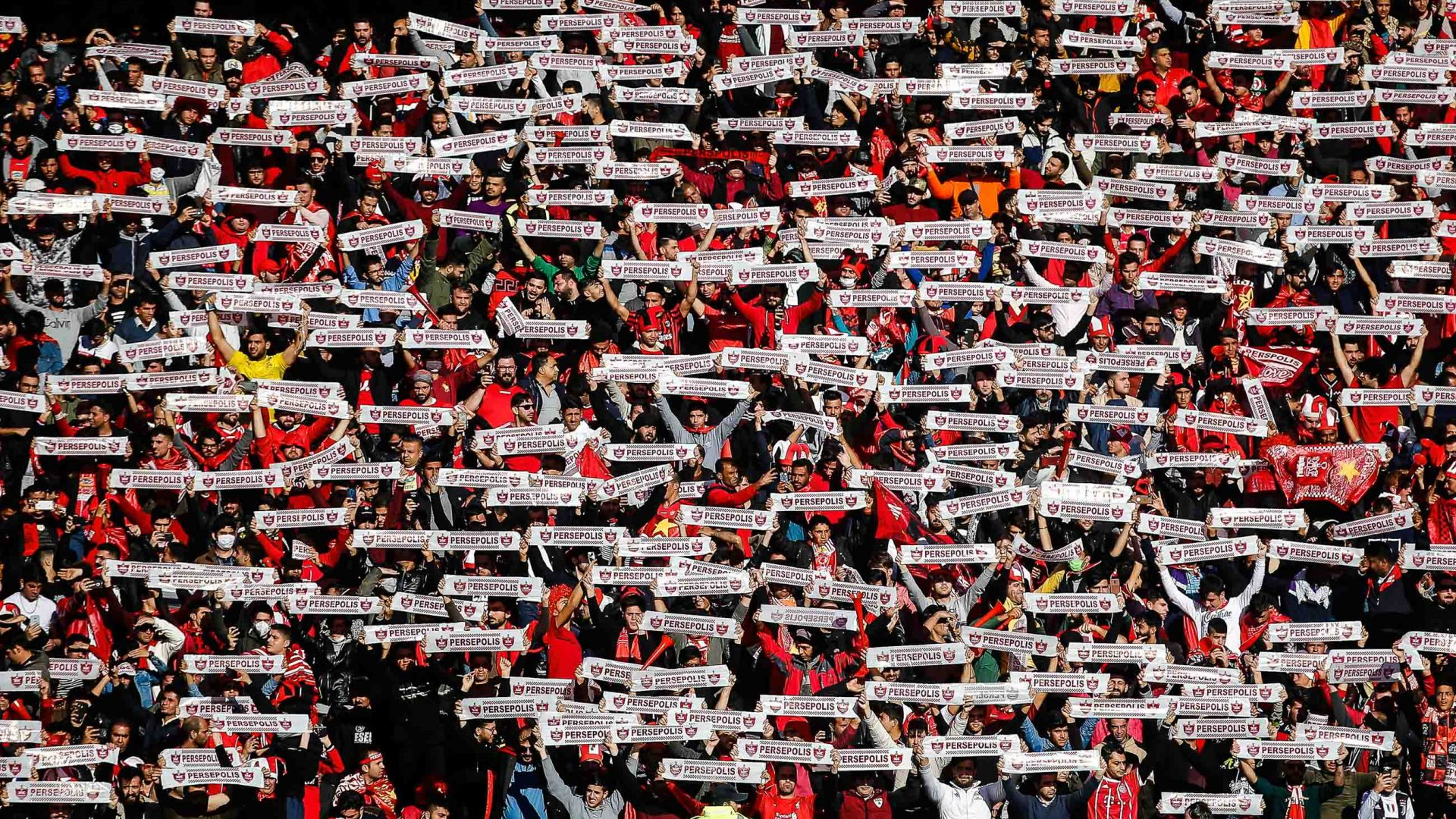 Persepolis fans at the Tehran Derby.