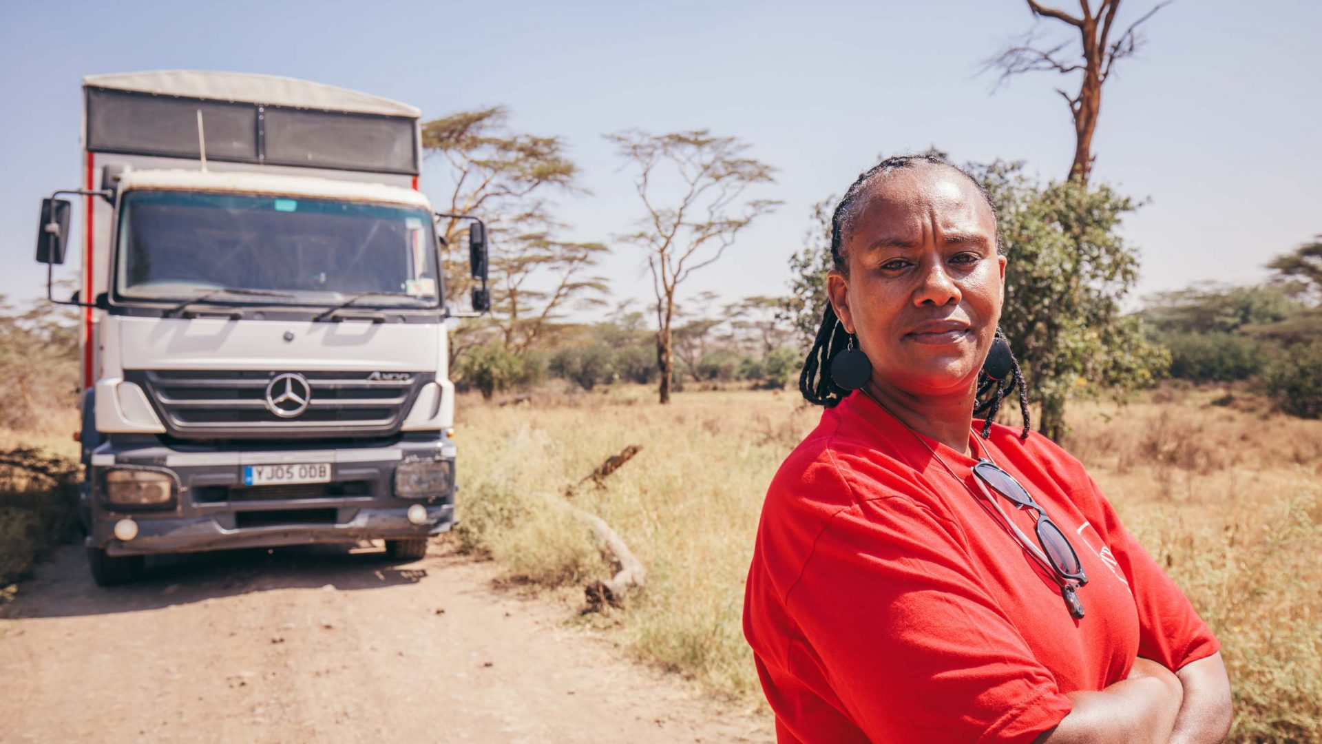 Becky, East Africa's first overland truck driver.