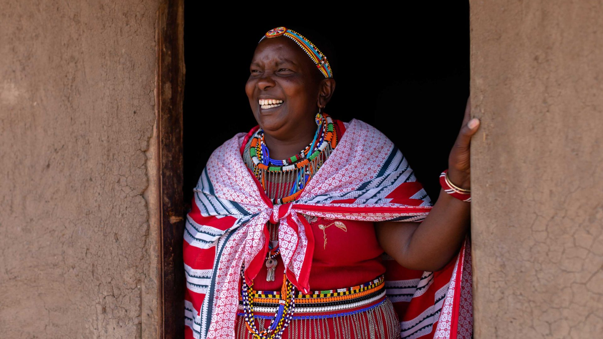 Hellen in the Maasai Tepesua village she founded.