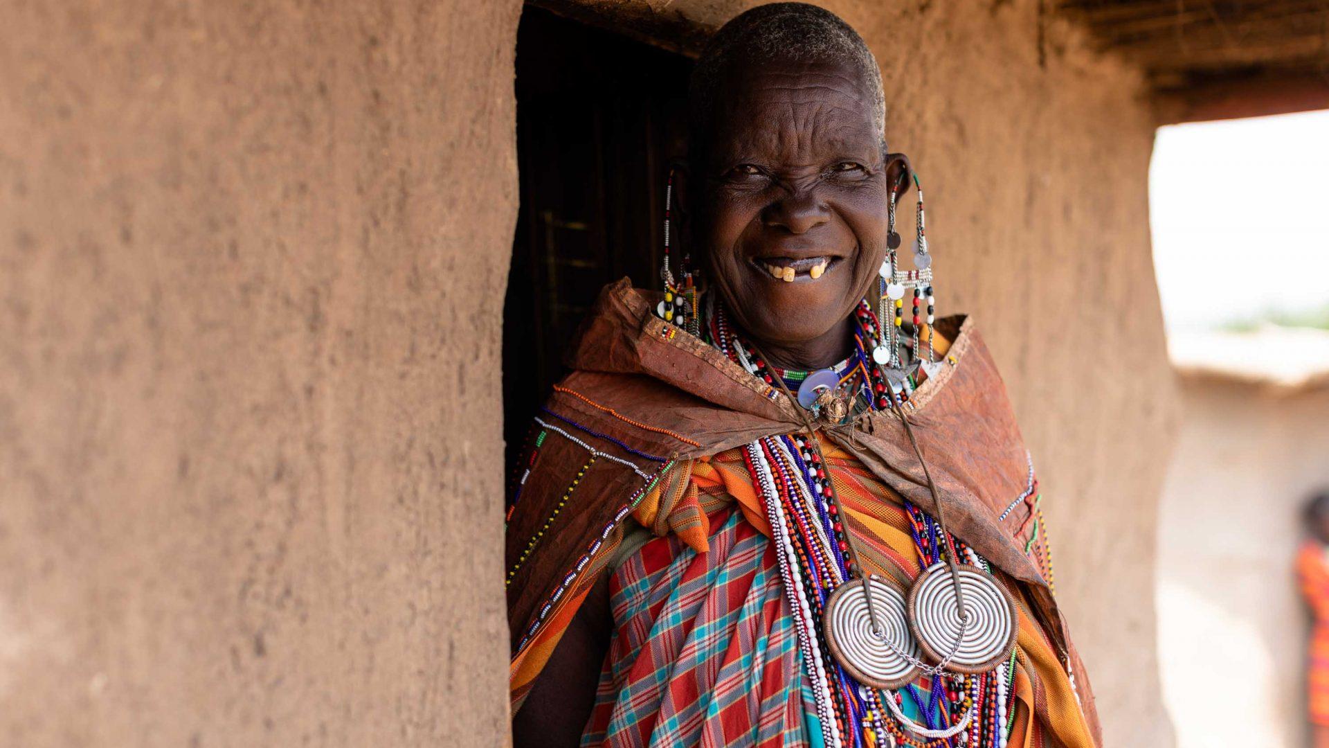 A woman in the Maasai Tepesua village.