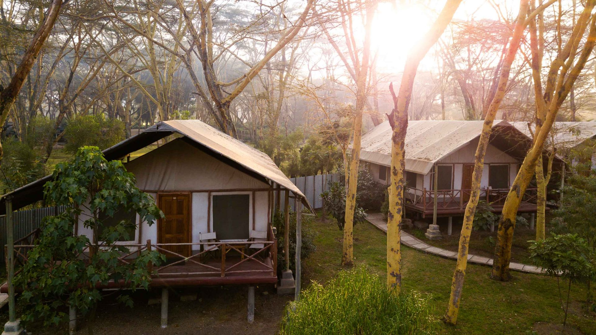Accommodation during Intrepid Travel's women's-only expedition to Kenya.