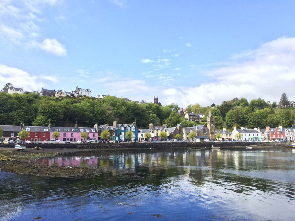 Tobermory is the capital of the Isle of Mull in the Scottish Inner Hebrides.