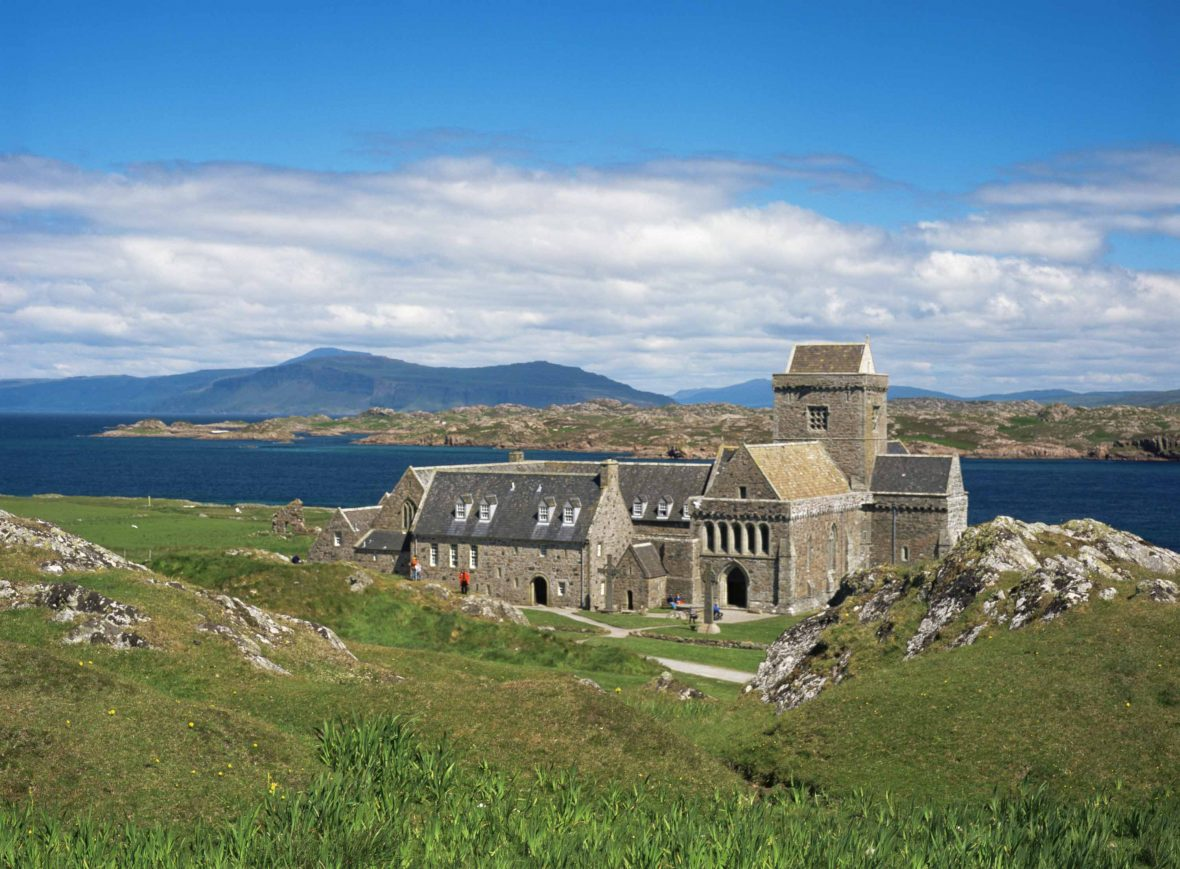 Iona Abbey is an abbey on the island of Iona, just off the Isle of Mull on Scotland's west coast.