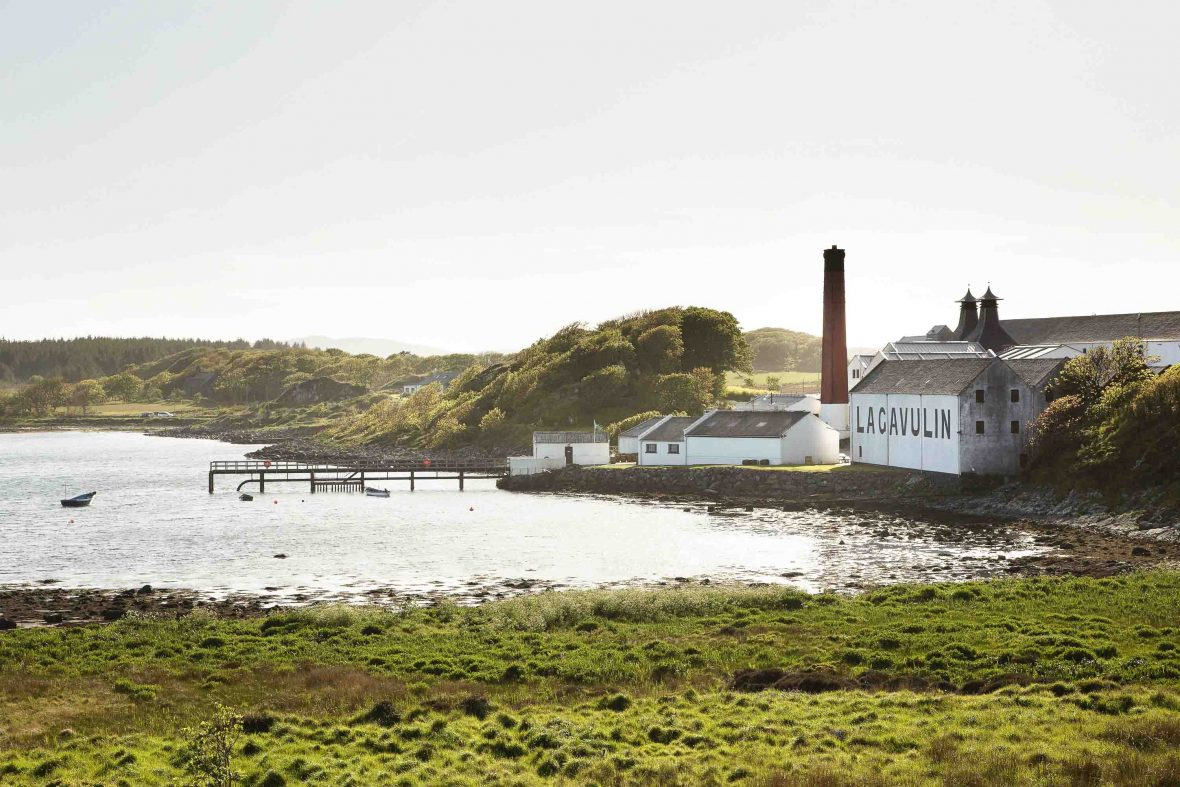 Lagavulin Distillery on Islay, the southernmost of the Inner Hebrides islands, off the west coast of Scotland.