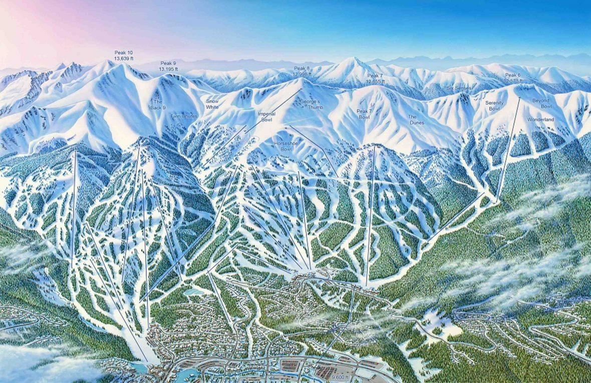 Illustration of Breckenridge ski resort.