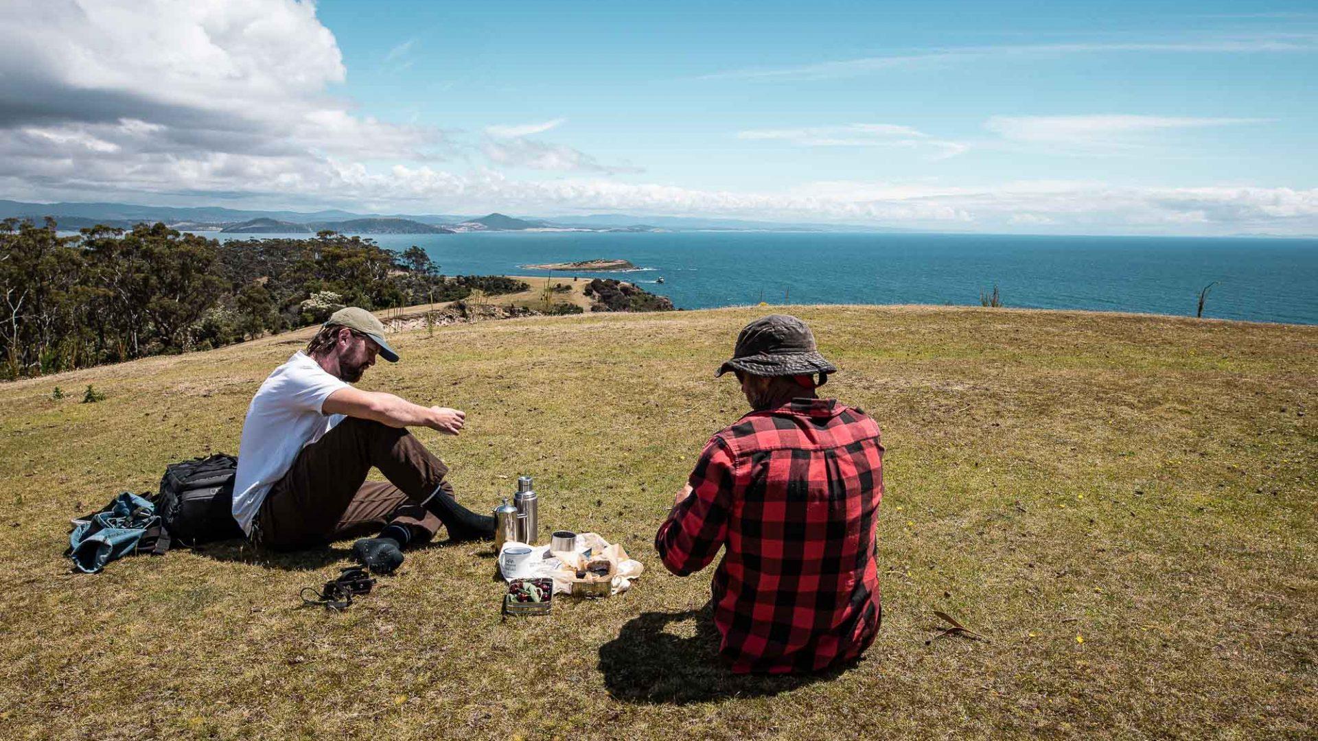 A picnic on Maria Island.