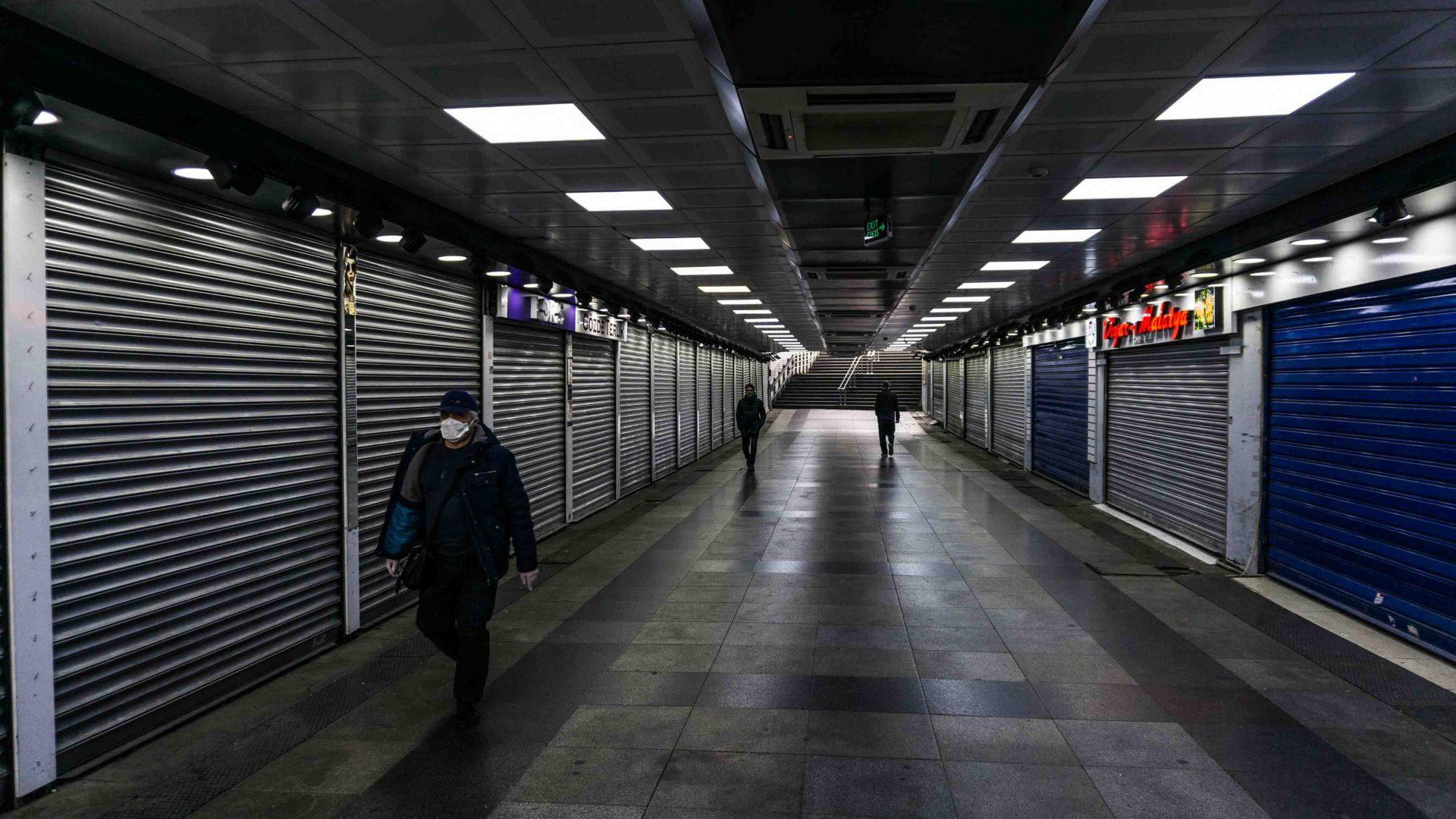 An underground pathway in Eminonu.