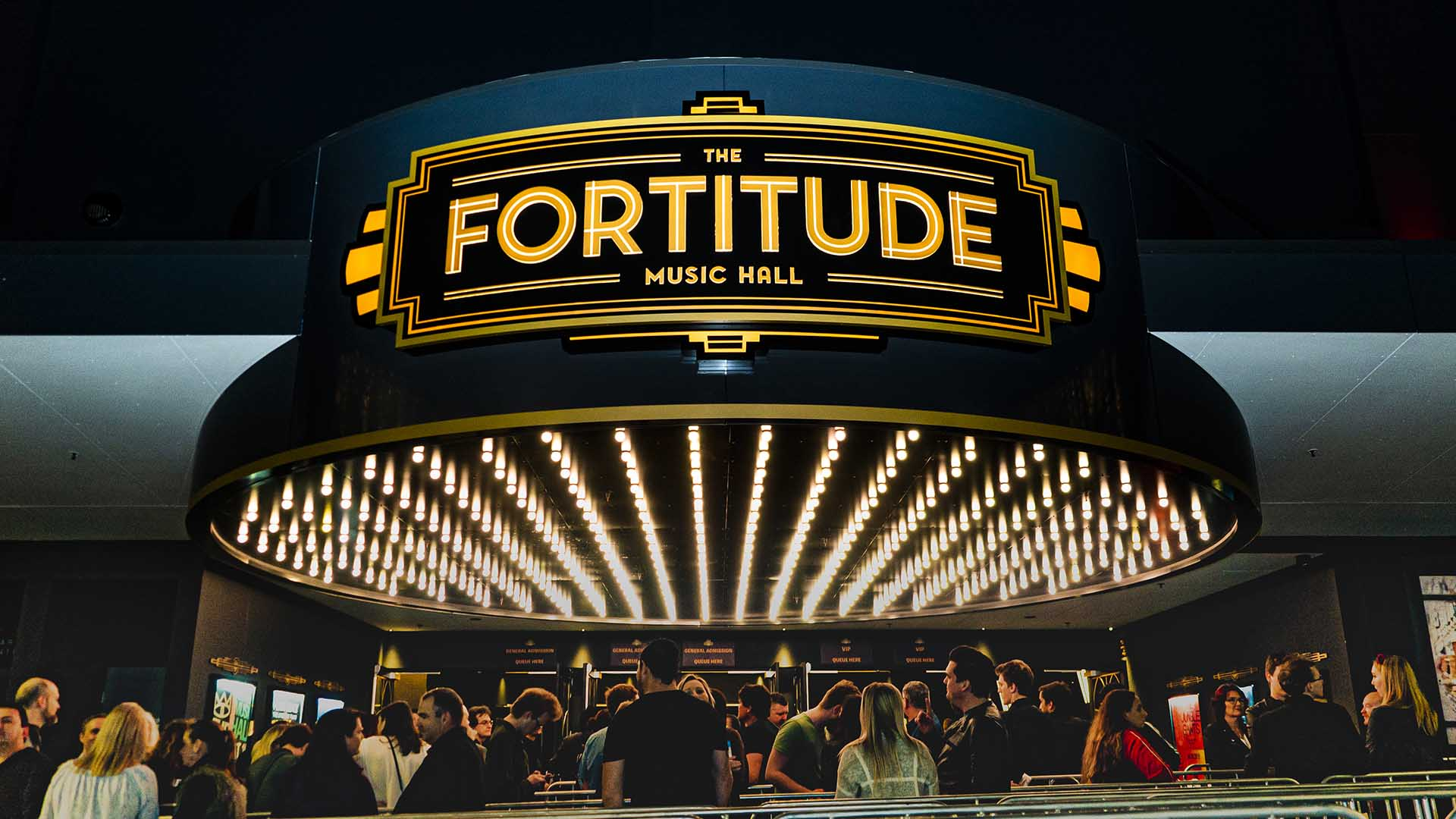 The exterior of Fortitude music hall
