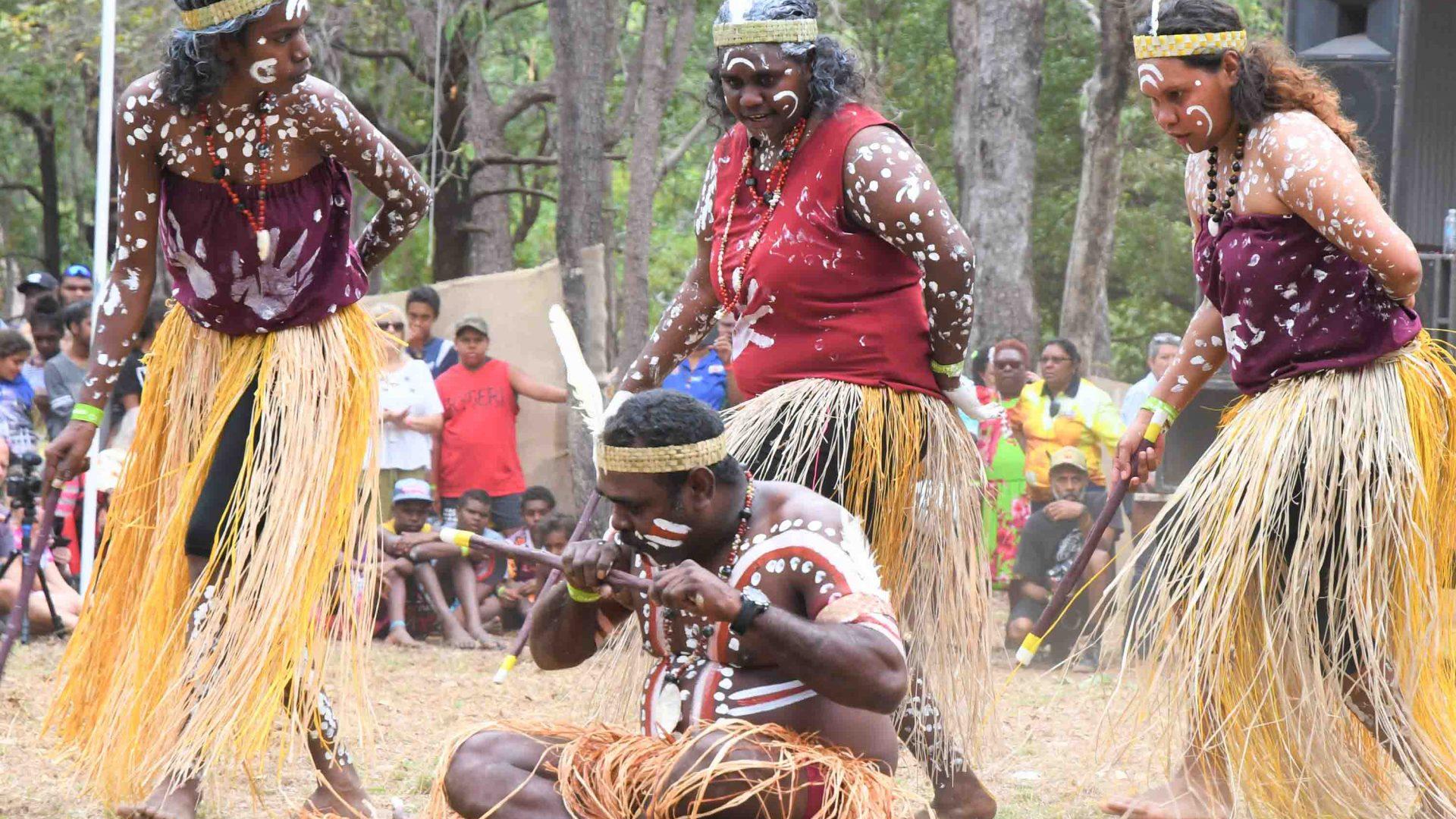 Dancers at the Laura Quinkan Dance Festival.