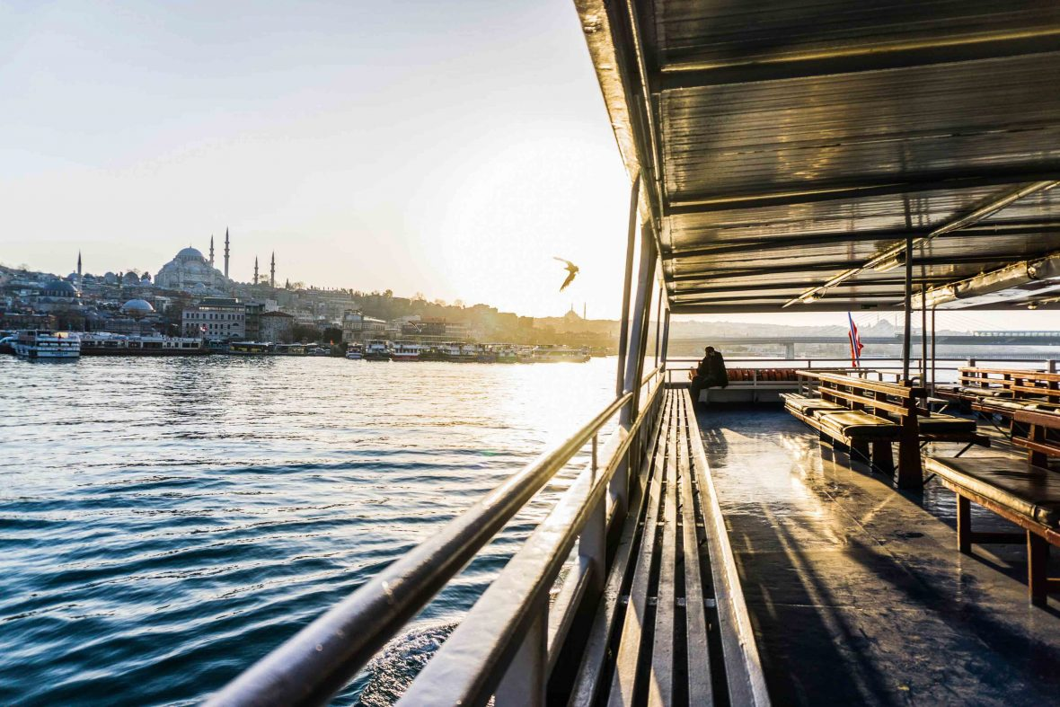 The ferry going from Karakoy to Kadikoy