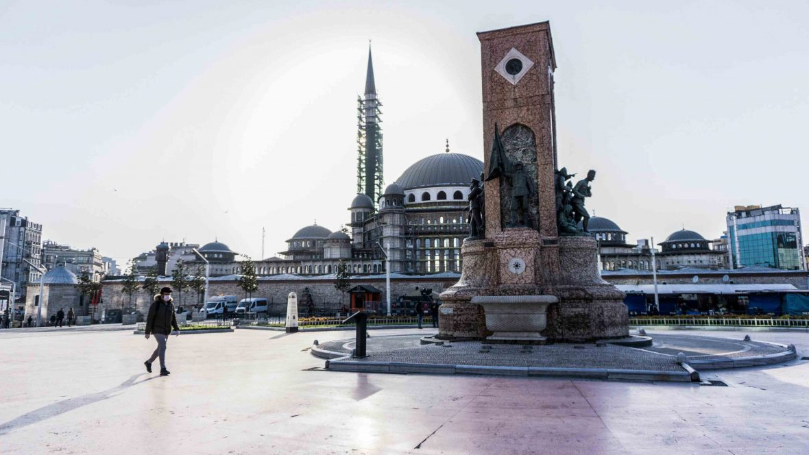 Taksim Square, the center of Istanbul