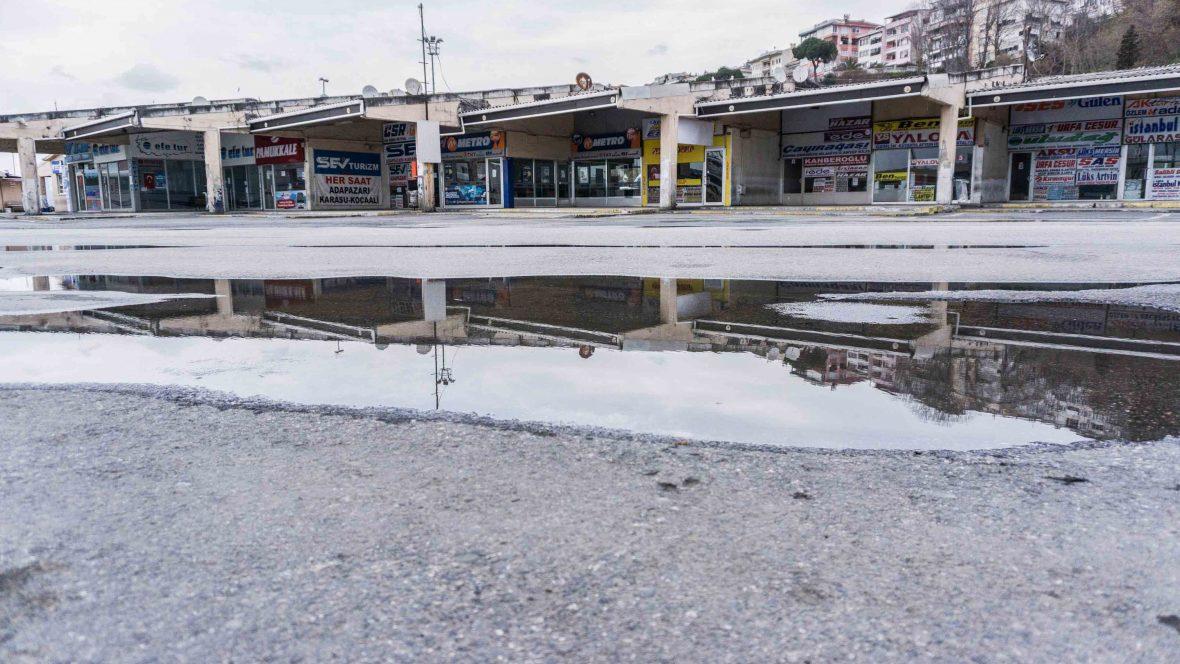 The bus station in Harem, Uskudar