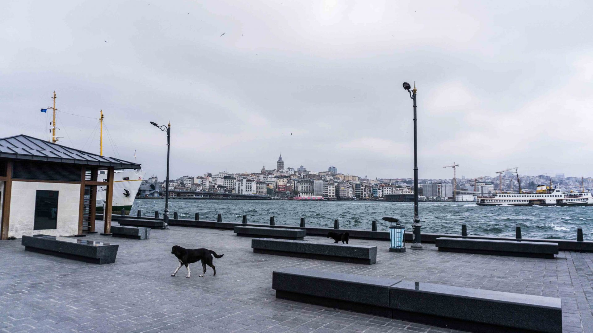 View of Galata Tower from Eminonu port
