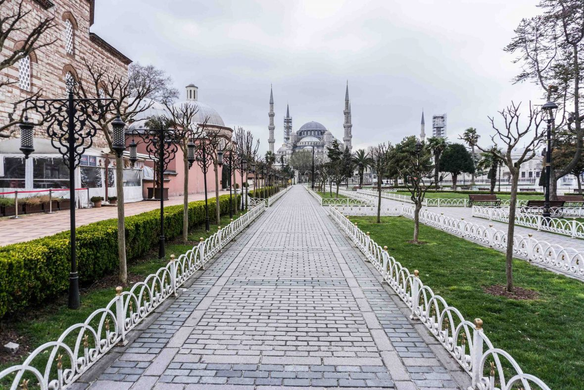 Sultan Ahmed Mosque, also known as the Blue Mosque, in Istanbul.