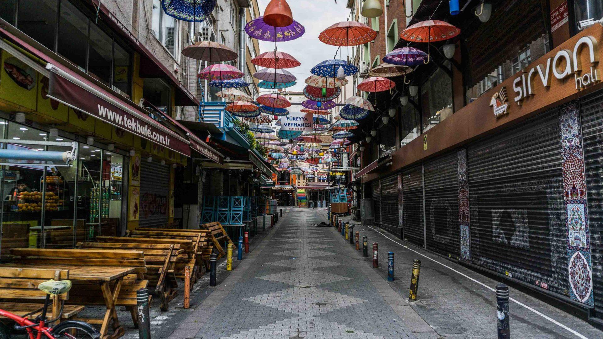 Ziya Bey sokak (street) in Kadikoy.